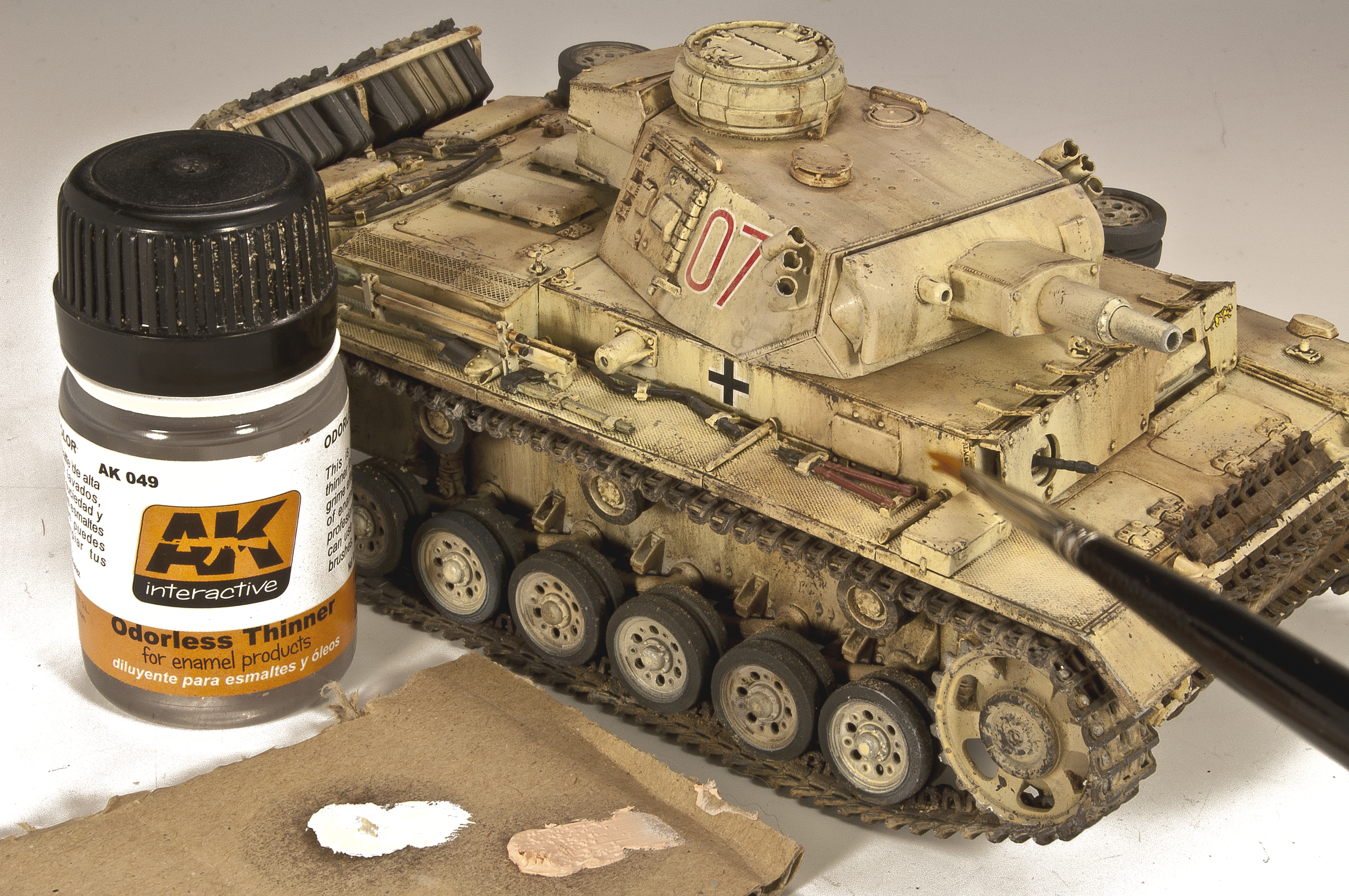 Panzer III D A K  Painting and Weatheirng